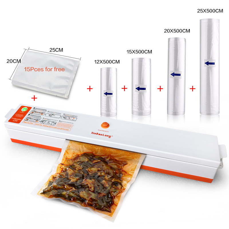 Household Food Vacuum Sealer Packaging Machine Automatic Electric Film Sealer Vacuum Packer Sealing Fresh Saver Vacuum Sealer automatic vacuum food sealer household food preservation plastic packaging vacuum film sealing machine