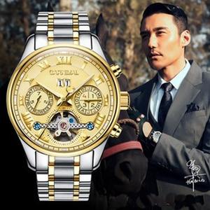 Image 2 - קרנבל tourbillon חם אוטומטי מכאני מותג גברים של שעונים אופנה צבא ספורט עמיד למים שעון זוהר יוקרה מלא פלדה