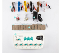 6 Output CFDA EMS TENS unit waist back body massage machine Health multi functional acupuncture stimulation Muscle relaxation