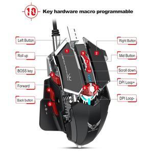 Image 5 - ZERODATE LD MS500 Adjustable 4000DPI RGB Breathing Light Gaming Mouse Professional Mechanical Gaming Mouse Ergonomic Game Mice