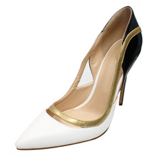 Spring Autumn New Shoes Woman Pointed Toe Genuine Leather Pumps Women Elegant Prom Thin High Heels Wedding Shoes D048A цены онлайн