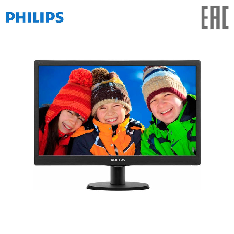 Monitor Philips 193V5LSB2/10(62) 18.5 Inch philips 193v5lsb2