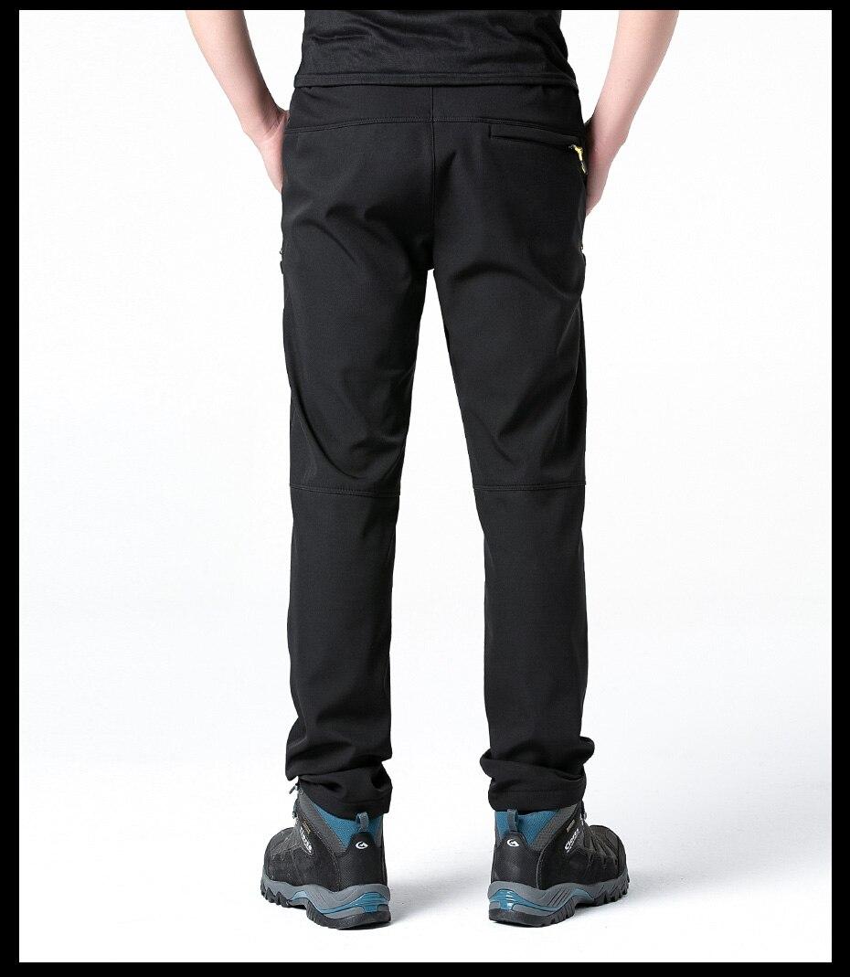 Fleece Warm Winter Hiking Pants Waterproof Softshell Trekking Pants Hunting Trousers (15)