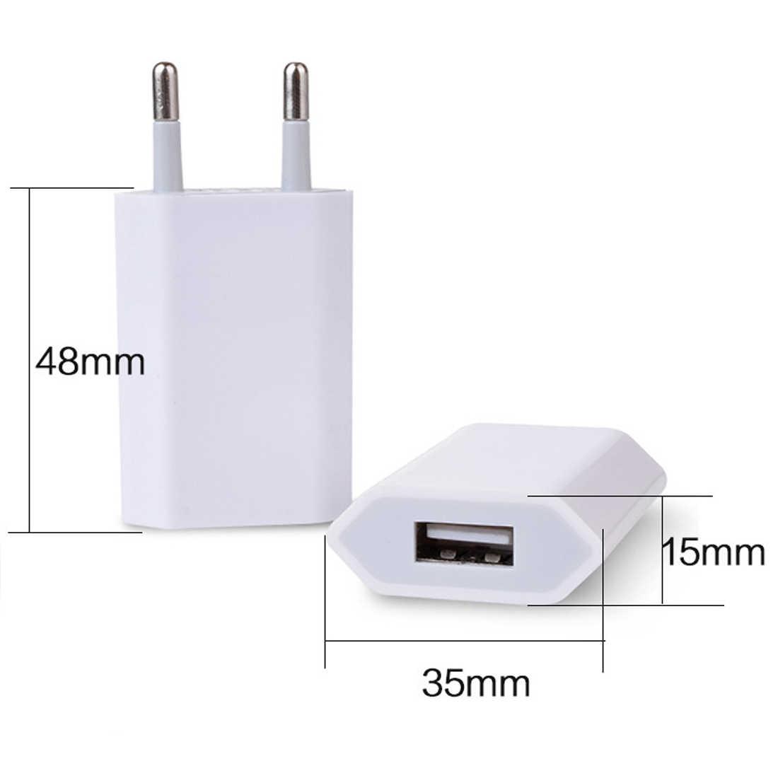 Etmakit Home Tường Sạc Phổ EU Cắm USB Power Adapter Travel Điện Sạc Adapter Đối Với Apple iPhone
