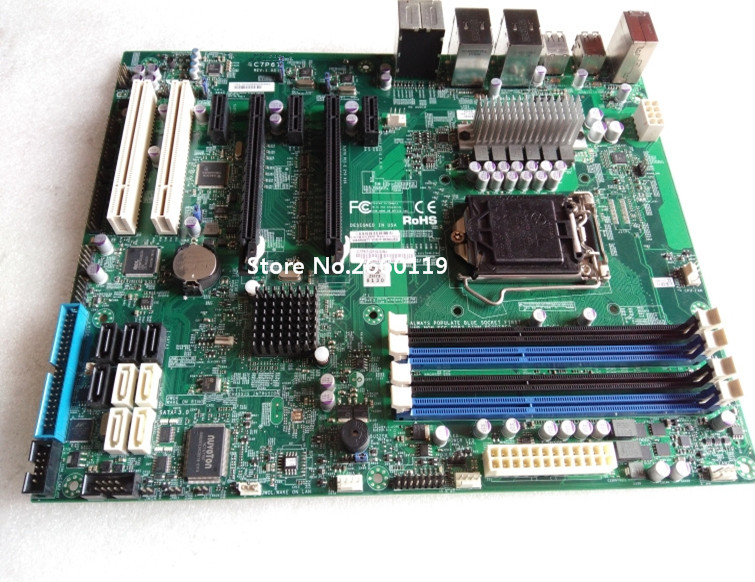 Server Motherboard For C7P67 LGA1155 Mainboard Fully Tested