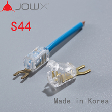 JOWX S44 10PCS For 14-13AWG 2.5SQMM Non-stripping Cable Wire Wiring Connector Quick Splice Crimp Spade U Type Insulated Terminal