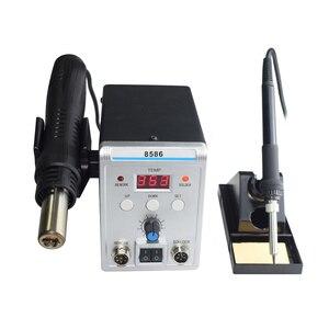 Image 4 - New Eruntop 8586 Digital Display  Electric Soldering Irons +DIY Hot Air Gun Better SMD Rework Station