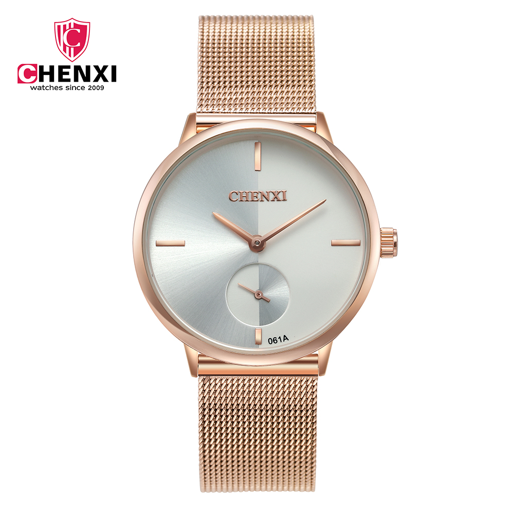 Women Quartz Watches Water Resistant CHENXI Bracelet Watch Ladies Gifts Quartz Watch relogio 061A Women Watches Rose Gold Luxury цена и фото