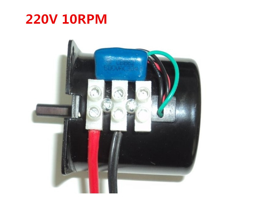 AC gear <font><b>motor</b></font> with gearbox ,60KTYZ AC <font><b>220V</b></font> 14W <font><b>10rpm</b></font> Reversible Permanent magnet synchronous gear <font><b>motor</b></font>, forward and backward image
