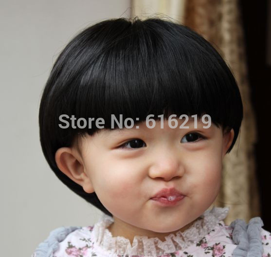 Fashion Baby Mushroom Hairstyle Wig Black Short Hair On Aliexpress