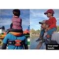 Manos libres Soporte para el Hombro con Correas de Tobillo y Amortiguado Asiento Hip Correa de Nylon Niño Jinete morral del recorrido infantil marco silla Bac