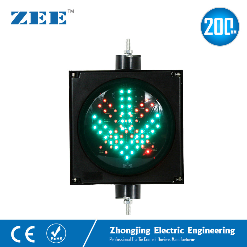 220V/110V 12V or 24V 8 inches 200mm LED Traffic Signal Light Parking Lot Traffic Light Entrance and Exit Toll Station Signals