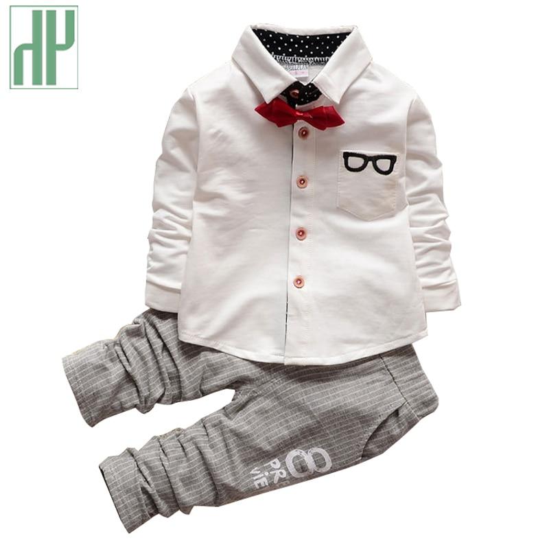 Boutique Kids Clothes Boys Autumn Children Clothing Sets Gentleman Toddler Formal Birthday Dress Baby Wedding Suits