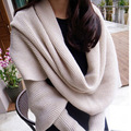 RASMEUP 2016 New Fashion Woman Knitted Shawls Novelty Scarves Solid Sleeves Scarf Winter Warm  Long Soft Wraps Scarves Shawl