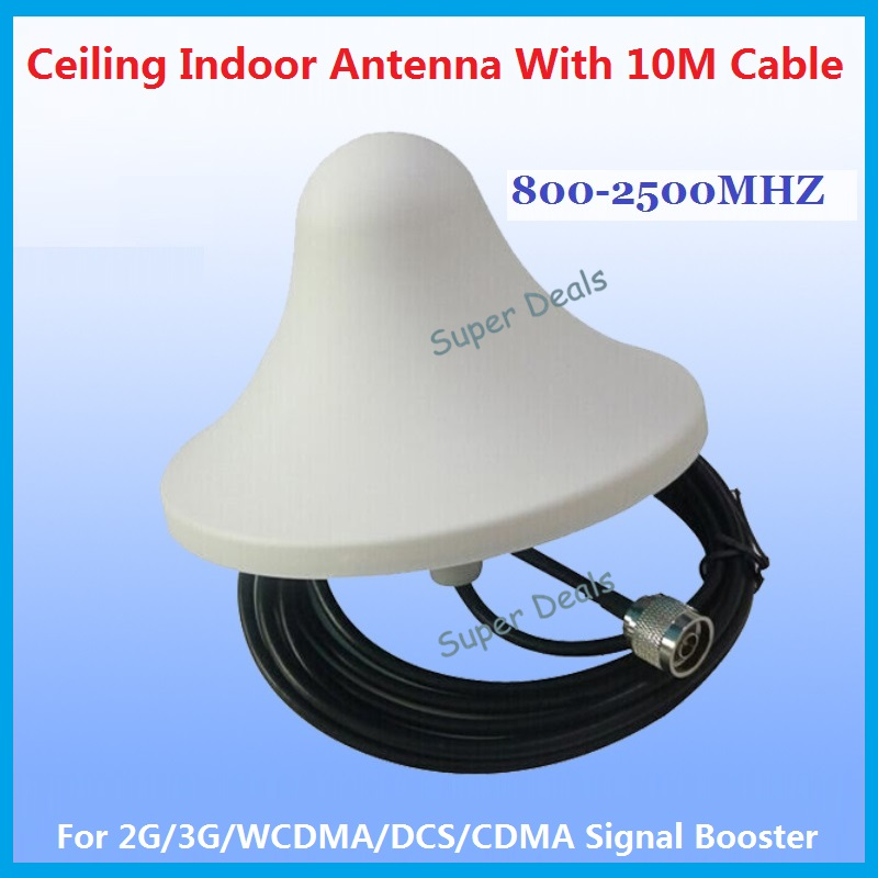 GSM 2G 3G 4G Indoor Omni Antenna Ceiling Antenna N-male With 10m Cable For Cell Phone Signal Booster / Repeater / Amplifier