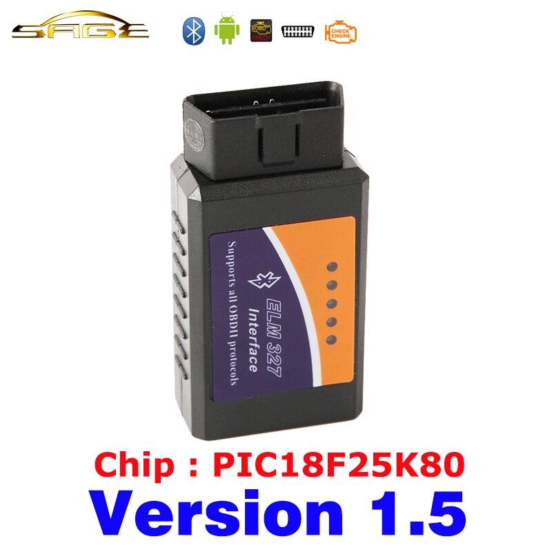 Viecar V1.5 OLMO 327 Bluetooth ELM327 OBDII/OBD2 Versione 1.5 Vehicle Diagnostic Scanner Tool Reader Funziona Su Android