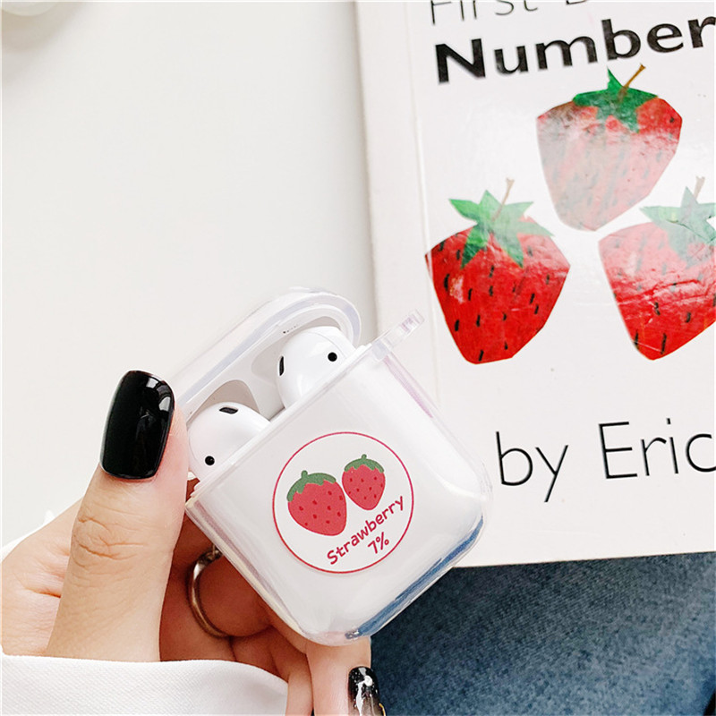 Image 3 - Summer Fruit Pattern Case For Airpods Cute Earphone Cover For AirPods Cartoon Bluetooth Headset Bag Soft TPU Silicone Cover Capa-in Earphone Accessories from Consumer Electronics