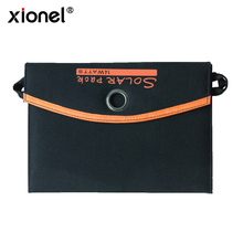 Xionel 14W Solar Charger with 2 Port USB Charger High efficiency Solar Panel Cell for iPhone