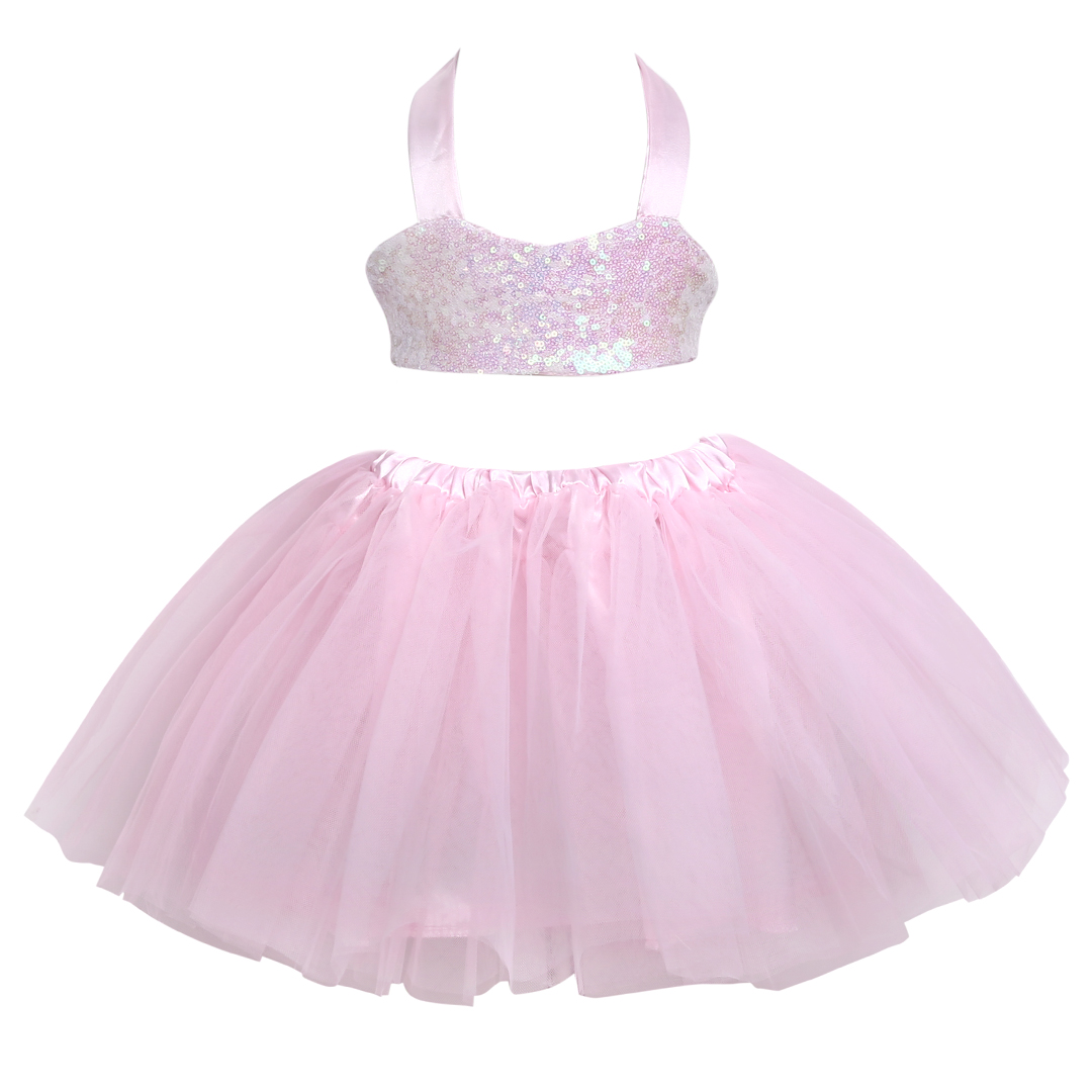Elegant Children Kids Baby Girls Dress Sequins Tulle Bow