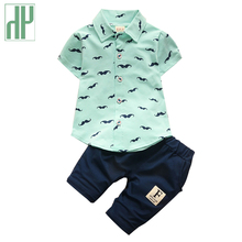 hot deal buy children's clothes baby boys summer clothing sets kid clothing boys 2017 casual short sleeve t-shirt+shorts 2pcs outfit suit