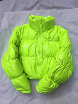 Bubble Puffer Jacket 2019 Winter Coat Women Lime Green Pink Yellow Red Black - DISCOUNT ITEM  26% OFF All Category