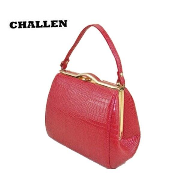 Challen 2017 новый женский мешок моды элегантные крокодил зерна сумочка одно плечо сумка вечерняя сумочка кожа pu сумки rj587