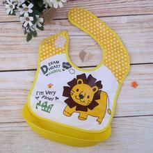 Lovely Cartoon Themed Waterproof Silicone Bib