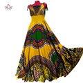 Africanos vestidos de noche para las mujeres sexy party dress mujeres sin mangas maxi dress vestidos de regalos de navidad más el tamaño 6xl brw wy556