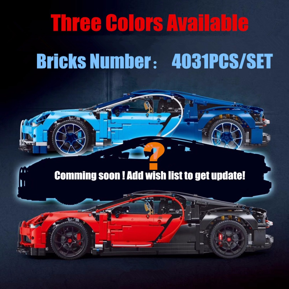 New 4031Pcs Technic Car series fit legoings Technic bugattied Racing car Chiron Building Blocks Bricks 42083 diy Toy gift kid loz smartable technic series red excavator diy building brick blocks toys compatible with legoingly technic car gift toy to kid
