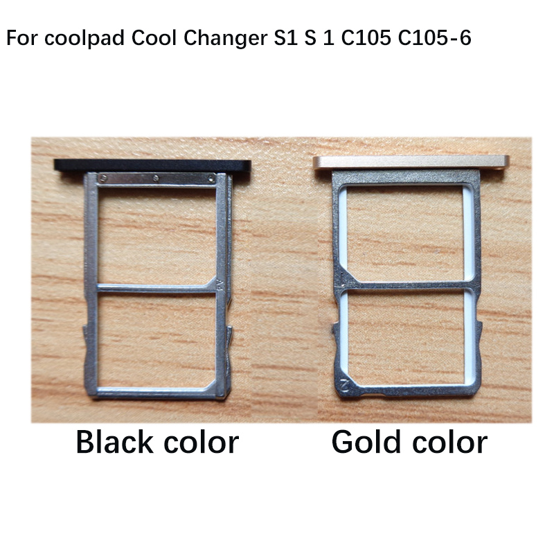 2PCS For coolpad Cool Changer S1 S 1 C105 C105-6 Nano Sim+Micro SD Card Tray Holder Slot Socket Replacement Parts
