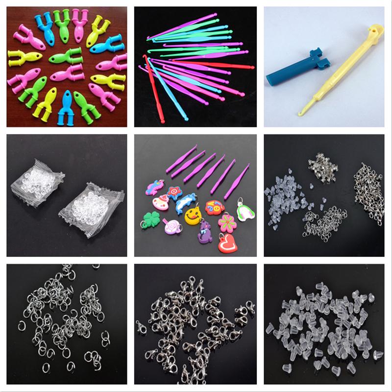 Tools rubber loom bands for children girl gift diy set pendant crochet s buckles Hooks knit tools for weaving lacing bracelet