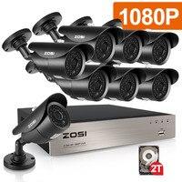 ZOSI TVI HD 8CH 8pcs 2 0MP 1080P CCTV Security System Day Night Waterproof IP6 IR