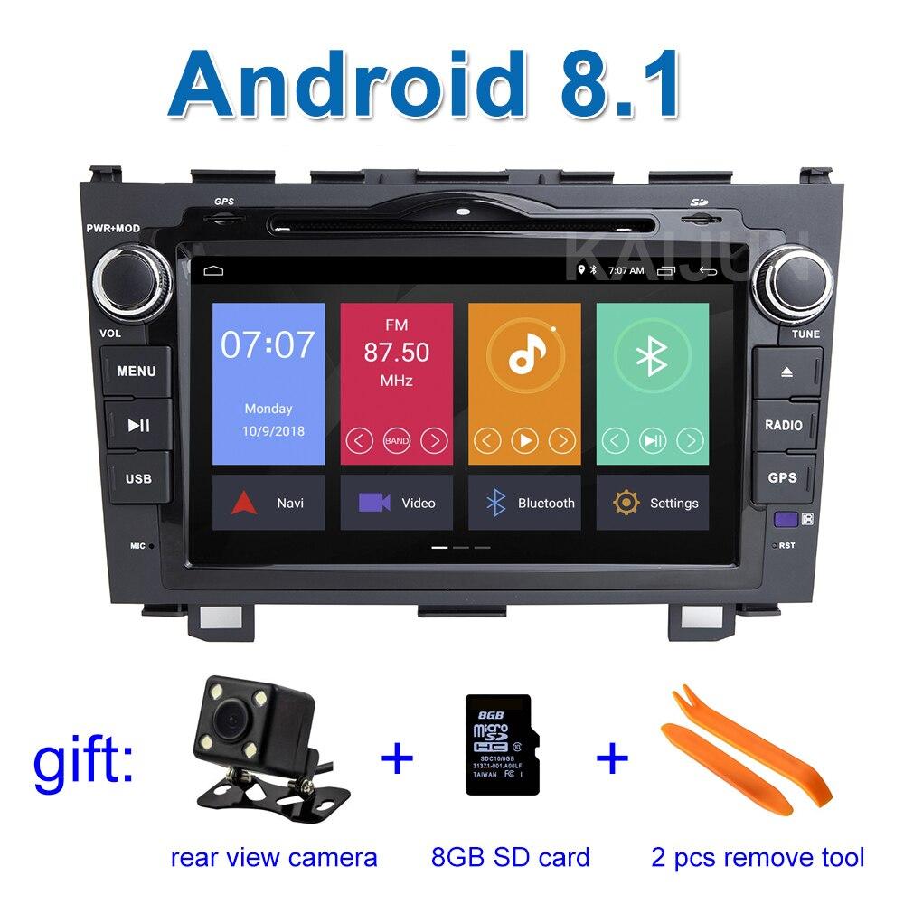 8 Android 8,1 автомобиль DVD стерео проигрыватель gps для Honda CRV CR V 2007 2008 2009 2010 2011 с BT Wifi радио