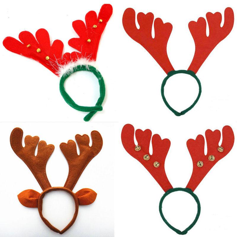 reno de la navidad astas en banda para la cabeza de navidad fuentes de la decoracin