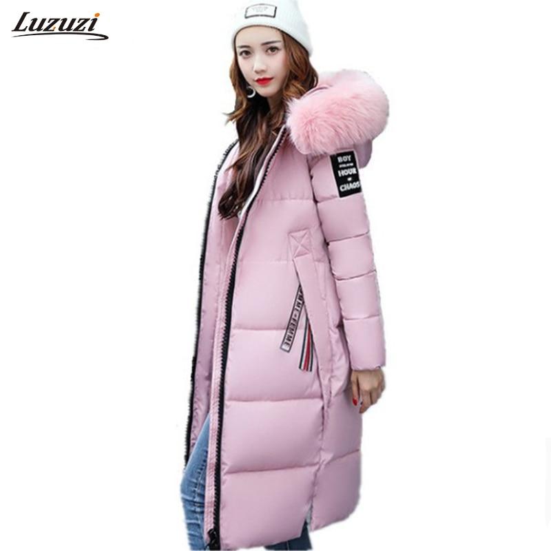 1PC Winter Jacket Women Winter Coat Women Fur Hooded Long Coat Thickening Parka Womens Winter Jackets Manteau Femme Hiver Z1010 цены онлайн