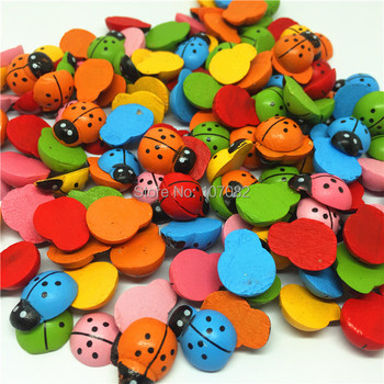 50 Uds mixto mariquitas de madera embellecer Flatbacks verde Flatbacks juguetes de dibujos animados Chips Scrapbooking 12x13x15mm/pc