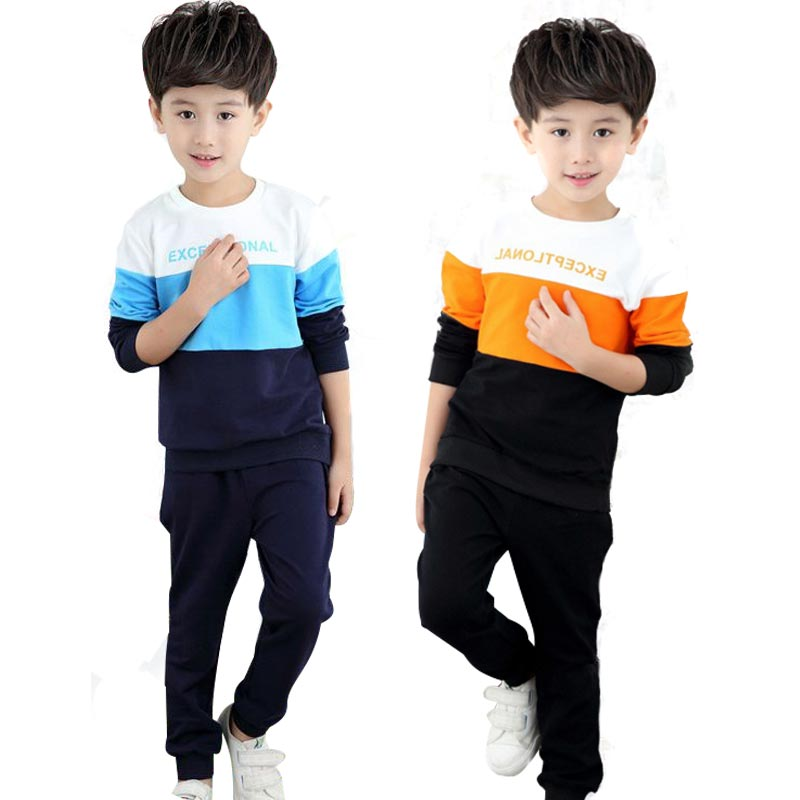 Teenage Boys Clothes Autumn Boys Clothing 5 6 7 8 9 10 11 12 Years Children Sports Suit Cotton Kids Tracksuit Boy Sets 2Pcs  children clothing sets for teenage boys and girls camouflage sports clothing spring autumn kids clothes suit 4 6 8 10 12 14 year