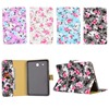 Fashion Flower Cloth Print Flip Stand PU Leather Card Holder Cover Protector Case For Samsung Galaxy