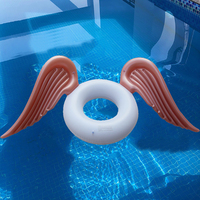 INS HOT Swimming for Adult Ring Angel Wings Summer Inflatable Circle Pool Lounger Swim Safety Buoy Island Lifebuoy Water Toys