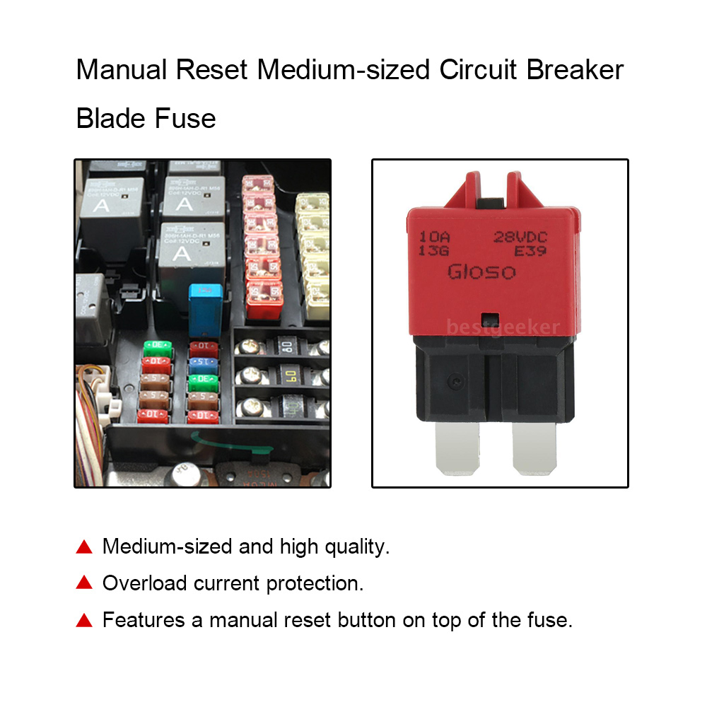 medium resolution of car fuse manual reset circuit breaker blade fuse with button 10acar fuse manual reset circuit breaker
