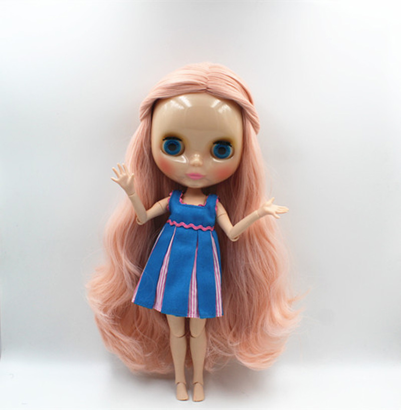Free Shipping BJD joint RBL-389J DIY Nude Blyth doll birthday gift for girl 4 colour big eyes dolls with beautiful Hair cute toy free shipping bjd joint rbl 415j diy nude blyth doll birthday gift for girl 4 colour big eyes dolls with beautiful hair cute toy