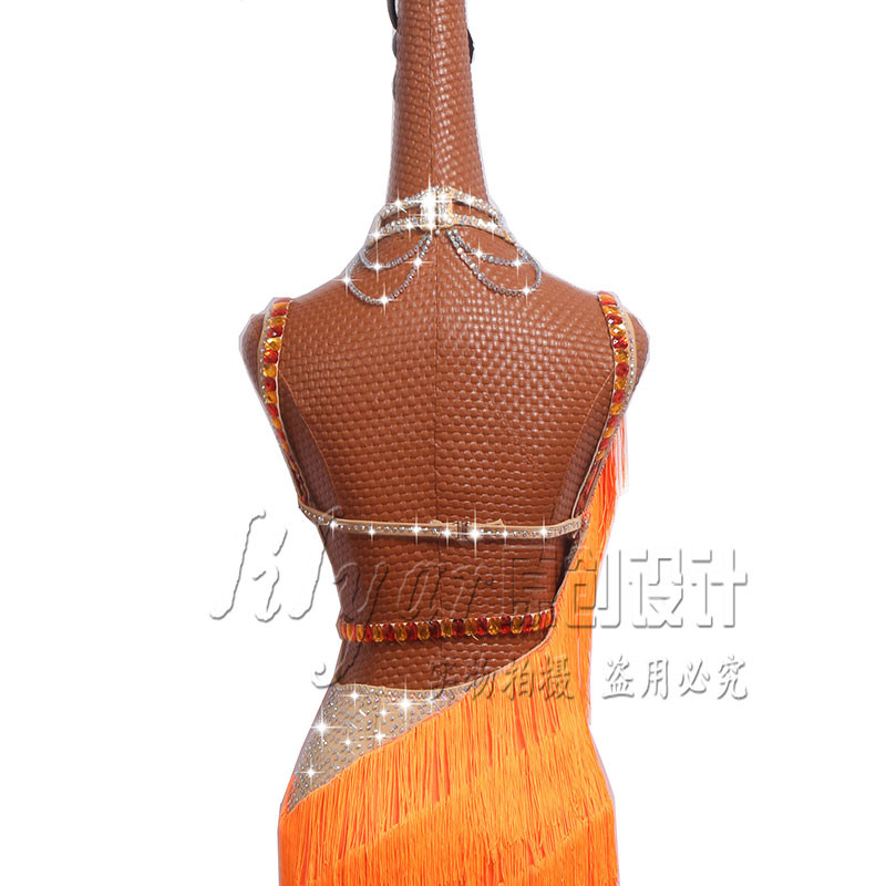 Luxury Latin Dance Dresses Performance Costumes Sexy Sling Diamond Tassel Dress For Women Girls Stage Competiton Clothing