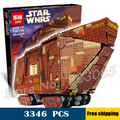 3346pcs Lepin Star Wars universe 05038 Sandcrawler DIY Model Building Blocks Sand crawler Toys Compatible with Lego