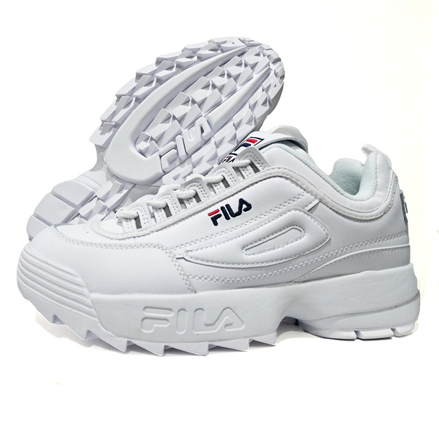 b1c9b326eb99 White Fila Disruptor II 2 Retro Platform Sneakers Men Running Shoes zapatos  de mujer Height Increasing Outdoor sports shoes-in Running Shoes from  Sports ...