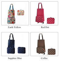 Organizer Tug Package With Handle Stretching Foldable Shopping Bag On Wheels Large Capacity Labor Saving Portable Multifunction