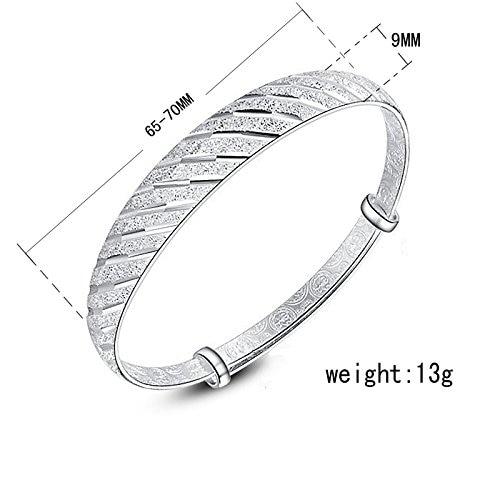 Для женщин метеорный поток Форма посеребренные регулируемый браслет/браслет