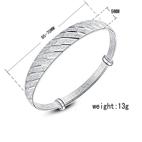 Women Meteor Shower Shape Silver Plated Adjustable Bracelet/Bangle