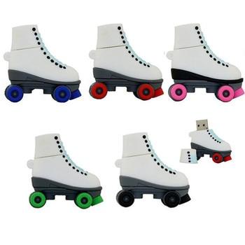 New Pendrive Fashion Ice Skates Pen Drive USB Drives Genuine 4GB 8GB 16GB 32GB Cartoon Roller Skates Shoes USB Flash Disk