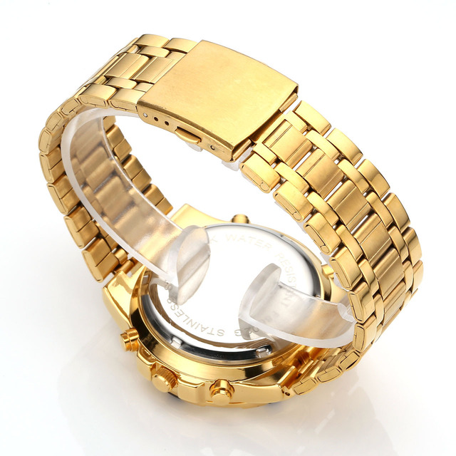 Waterproof Gold Stainless Watch 10