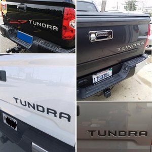 Image 2 - 2 Colors 3D Raised Metal Emblem Badge Letter Insert for TOYOTA TUNDRA Tailgate 2014 2015 2016 2017 2018 2019 Car Accessories